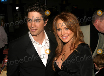 Adam Garcia Photo - Premiere of Confessions of a Teenage Drama Queen at the E-walk Theater  New York City 02172004 Photo by Rick MacklerrangefindersGlobe Photosinc Adam Garcia_lindsay Lohan