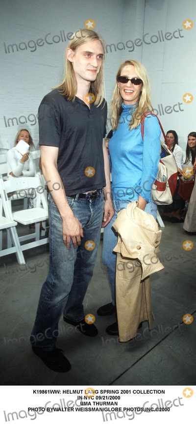 Helmut Lang Photo -  Helmut Lang Spring 2001 Collection in NYC 09212000 Uma Thurman Photo Bywalter WeissmanGlobe Photosinc
