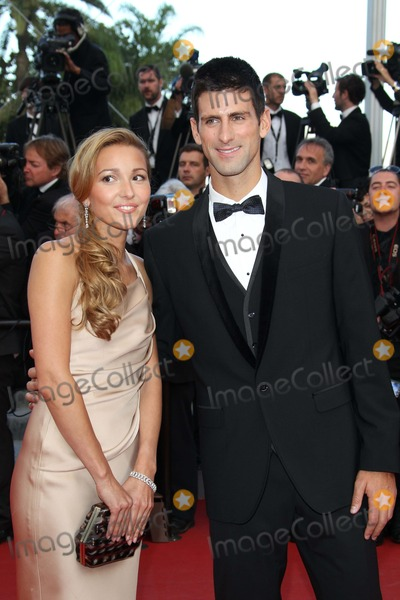Novak Djokovic Photo - Tennis Player Novak Djokovic and His Girlfriend Jelena Ristic Attend the Premiere of the Beaver at the 64th Cannes International Film Festival at Palais Des Festivals in Cannes France on 17 May 2011 photo Alec Michael