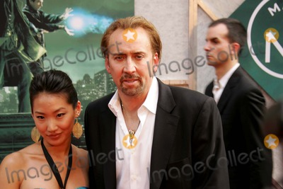 Alice Kim Photo - Arrival at the New Amsterdam Theatre For the Premiere of the Sorcerers Apprentice NYC 7-06-2010 Photos by Rick Mackler Rangefinder-Globe Photos Inc2010 Nicolas Cage and Wife Alice Kim