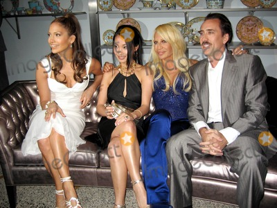 Alice Kim Photo - Versace Boutique Re-opening Party in Their Vip Room at 647 5th Ave New Yirk City 02-07-06 Photo by Jbarrett-allen-Globe Photoinc Jennfer Lopez and Donatella Versace with Nicolas Cage and Wife Alice Kim