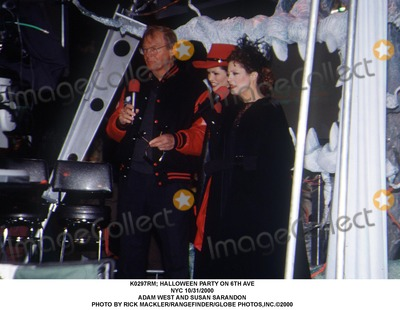 Adam West Photo -  Halloween Party on 6th Ave NYC 10312000 Adam West and Susan Sarandon Photo by Rick MacklerrangefinderGlobe Photosinc
