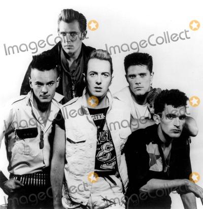 Joe Strummer Photo - The Clash Photo Supplied by Smp-Globe Photos Vince White Paul Simonon Joe Strummer Pete Howard Nick Sheppard
