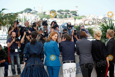 Amira Casar Photo - Lea Seydoux Amira Casar and Aymeline Valade Saint-laurent Photo Call Cannes Film Festival 2014 Cannes France May 17 2014 Roger Harvey