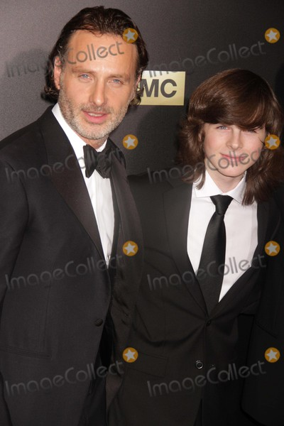 Chandler Riggs Photo - Chandler Riggs Andrew Lincoln at Amc Season Six Debut of the Walking Dead at Fan Premiere Event at Madison Square Garden 10-9-2015 John BarrettGlobe Photos