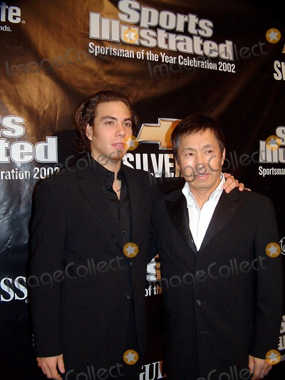 Apolo Ohno Photo - Sd1210 Sportsman of the Year Party Sponsored by Sports Illustrated Apolo Ohno and His Dad Tao 42 East 58 Th Street New York City Photomitchell LevyrangefindersGlobe Photos Inc
