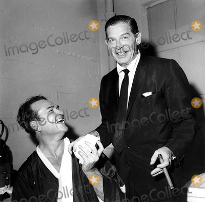 Red Skelton Photo -  41959 Red Skelton with Milton Berle Supplied by Globe Photos Inc
