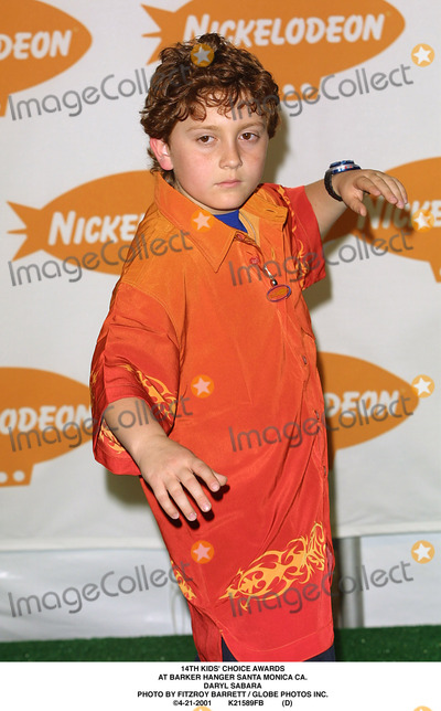 Daryl Sabara Photo - Kids Choice Awards at Barker Hanger Santa Monica CA Daryl Sabara Photo by Fitzroy Barrett  Globe Photos Inc 4-21-2001 K21589fb (D)
