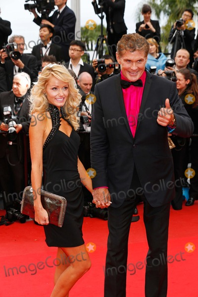 Hayley Roberts Photo - David Hasselhoff Hayley Roberts Jeune  Jolie Premiere 66th Cannes Film Festival Cannes France May 16 2013 Roger Harvey Photo by Roger Harvey - Globe Photos Inc