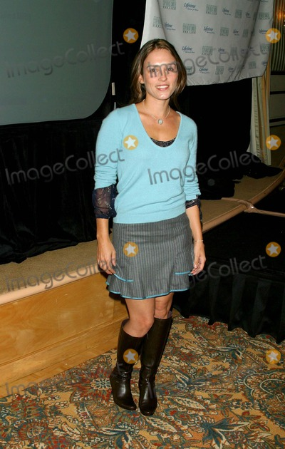 Amy Jo Johnson Photo - - Celebrity Talking Dictionary to Empower Women with Breast Cancer - Regent Beverly Wilshire Hotel Beverly Hills CA - 09302003 - Photo by Milan Ryba  Globe Photos Inc 2003 Amy Jo Johnson