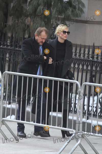 Andrew Upton Photo - Cate Blanchettandrew Upton at Philip Seymour Hoffmans Funeral Mass at Stignatius of Loyola Church on Park Ave 2-7-2014 John BarrettGlobe Photos