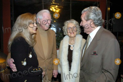 Sidney Sheldon Photo - Patrick and Baba Macnee with Sidney Sheldon and Wife Alexandra at Sidney Sheldons 88th Birthday Party at the Camelot Theater in Palm Springs CA 2-10-2005 Photo Byned Redway-Globe Photos Inc 2005
