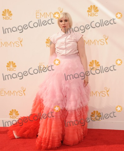 Lena Dunham Photo - Lena Dunham attending the 66th Annual Primetime Emmy Awards - Arrivals Held at the Nokia Theatre in Los Angeles California on August 25 2014 Photo by D Long- Globe Photos Inc