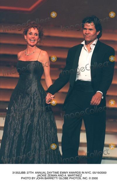 A Martinez Photo -  27th Annual Daytime Emmy Awards in NYC 05192000 Jackie Zeman and a Martinez Photo by John Barrett Globe Photos Inc