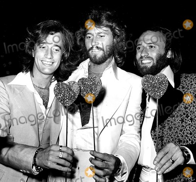 The Bee GEES Photo - The Bee Gees Robin Barry and Maurice Gibb at the Sgt Pepper Premiere Party 1978 N CutlerGlobe Photos Inc Mauricegibbretro