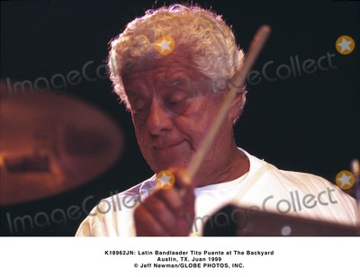 Tito Puente Photo -  Latin Bandleader Tito Puente at the Backyard Austin TX Juan 1999 Jeff NewmanGlobe Photos Inc