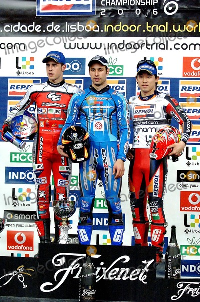 Albert Cabestany Photo - K4695820060225 LISBOA PORTUGAL - Lisbon receives for the 7th time the World Championship of Trial Indoor at Pavilhao Atlantico In Picture1- Albert CABESTANY 2- Adam RAGA and 3- Takahisa FUJINAMI In Picture Albert CABESTANY Adam RAGA and Takahisa FUJINAMIPHOTO Alvaro IsidoroCITYFILESGLOBE PHOTOS INC