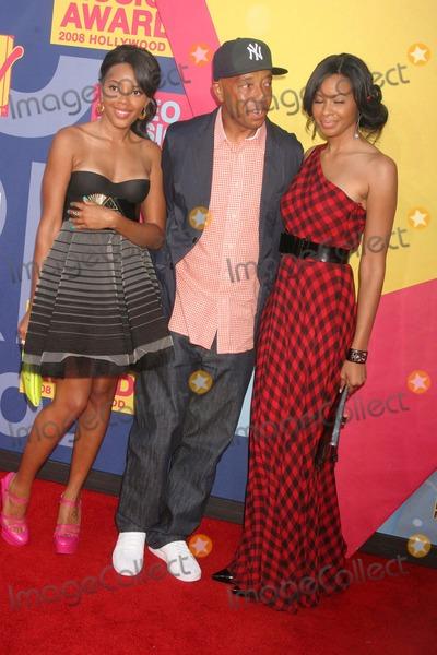 Vanessa Simmons Photo - 2008 Mtv Video Music Awards Paramount Studios Hollywood CA 090708 Russell Simmons with Justine Simmons and Vanessa Simmons Photo Clinton H Wallace-photomundo-Globe Photos Inc
