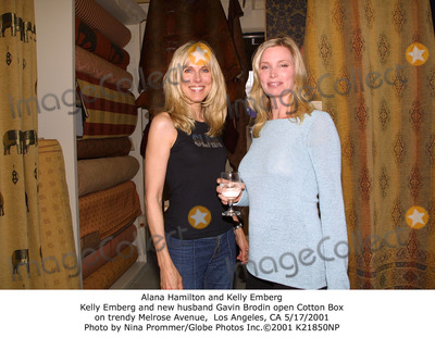 Alana Hamilton Photo - Alana Hamilton and Kelly Emberg Kelly Emberg and New Husband Gavin Brodin Open Cotton Box on Trendy Melrose Avenue Los Angeles CA 5172001 Photo by Nina PrommerGlobe Photos Inc2001