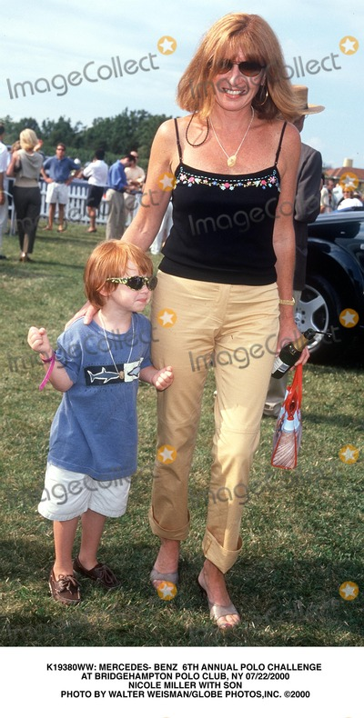 Nicole Miller Photo -  Mercedes- Benz 6th Annual Polo Challenge at Bridgehampton Polo Club NY 07222000 Nicole Miller with Son Photo by Walter WeismanGlobe Photosinc