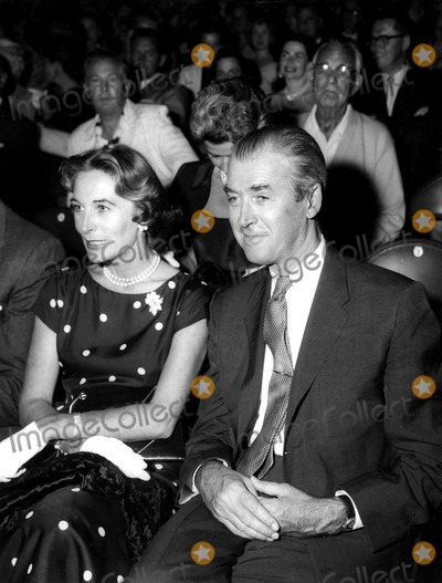 James Stewart Photo - James Stewart and Wife Gloria at the Performance of Ice Follies in Hollywood SmpGlobe Photos Inc
