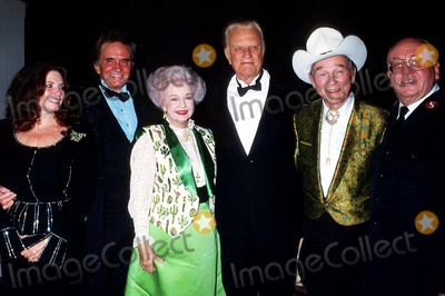 Roy Rogers Photo - Johnny Cash_(w)june_dale Evans Billy Graham_roy Rogers_lt Col David Riley Photo by Lisa RoseGlobe Photosinc