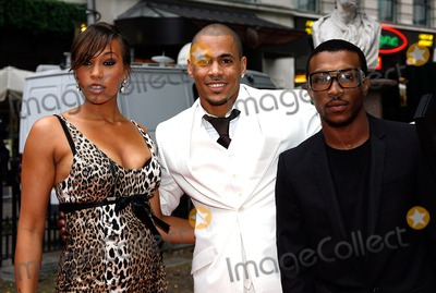 Ashley Walters Photo - Javine Hylton and Harvey and Ashley Walters Singer Rapper and Actors at the Hancock Film Premiere Vue Cinema West End London 06-18-2008 Photo by Neil Tingle-allstar-Globe Photos