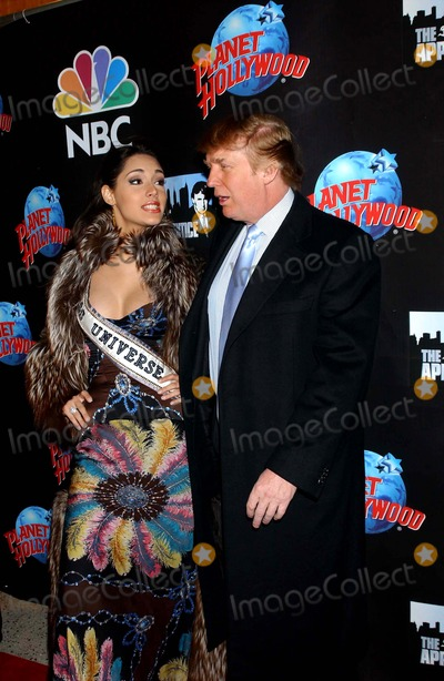 Amelia Vega Photo - the Apprentice Takes Over the Planet Donald Trump and Former Contestants to Attend Viewing Party at Planet Hollywood in New York City 01292004 Photo Ken Babolcsay Ipol Globe Photos Inc 2004 Miss Universe Amelia Vega and Donald Trump