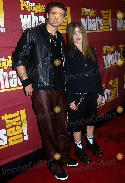 Avril Lavigne Photo - 0502- New York City 4th Annual Teen People  Whats Next Issue Party  Concert at the Hammerstein Ballroom Barry Talesnick Ipol Globe Photos Inc I1744bt Poster Justin Timberlake  Avril Lavigne