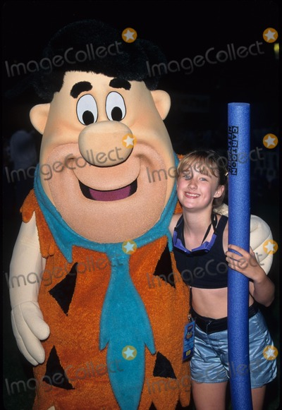 Ashley Johnson Photo - Ashley Johnson with Fred Flintstone Young Stars at Ucla 1996 K5639tr Photo by Tom Rodriguez-Globe Photos Inc