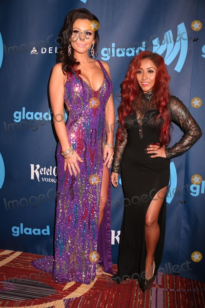 Jenni J-Woww Photo - The 24th Annual Glaad Media Awards the Marriott Marquis Hotel NYC March 16 2013 Photos by Sonia Moskowitz Globe Photos Inc 2013 Jenni (J Woww) Farley Nicole (Snooki) Polizzi