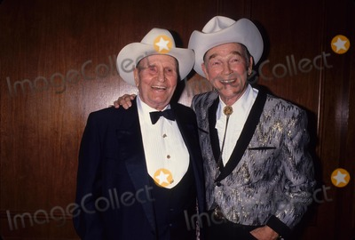 Roy Rogers Photo - Roy Rogers with Gene Autry 1992 L4272 Photo by Lisa Rose-Globe Photos Inc