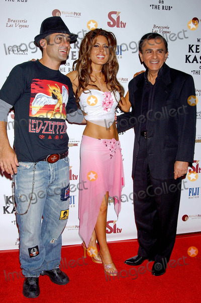 Casey Kasem Photo - Sitv Network Celebrates the Birthday of Tv and Radio Personality Kerri Kasem at Brasserie Les Voyous Hollywood CA 07212004 Photo by Miranda ShenGlobe Photos Inc 2004 Mike Kasem Kerri Kasem and Dad Casey Kasem