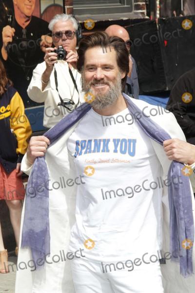 David Letterman Photo - Jim Carrey at Live with David Letterman Show Final Show 520-2015 John BarrettGlobe Photos