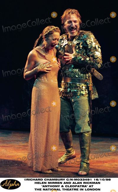 Alan Rickman Photo - 1098 Helen Mirren and Alan Rickman Perform in Anthony and Cleopatra at the National Theatre in London