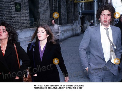 JFK Jr Photo -  John Kennedy Jr W Sister Caroline Photo by Ed GellerGlobe Photosinc