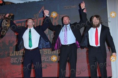 Daniel Bryan Photo - John Cena Paul Triple H Levesque Daniel Bryan Attend First Ever Wwe Summerslam Press Conference on 13th August 2013 at the Beverly Hills Hotelbeverly Hills Causaphoto TleopoldGlobephotos