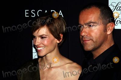 HILLARY SWANK Photo - Hillary Swank and Damiano Biella Escada Honors Damiano Biella at Free Arts Benefit Saks 5th Avenue NYC 10-30-2008