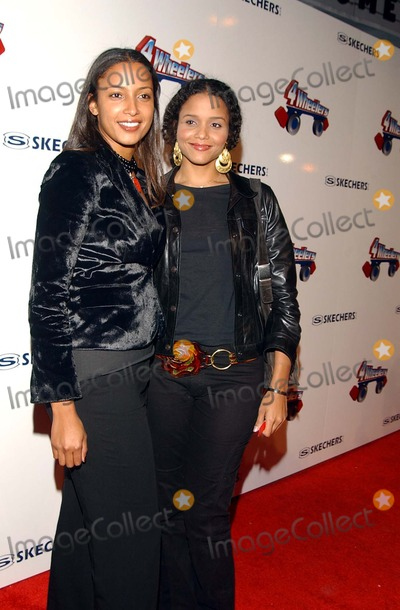 Anika Poitier Photo -  4 Wheelers by Skechers a Roller Disco-moroccan Style Debuting the Exclusive 4 Wheelers Design by Tracey Ross Hollywood Pladium Hollywood CA 04182002 Photo by Amy GravesGlobe Photosinc2002 (D) Sydney and Anika Poitier