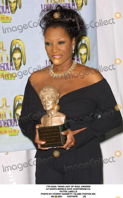 Train Photo - Soul Train Lady of Soul Awards at Santa Monica Civic Auditorium CA Pattie Labelle Photo by Fitzroy Barrett  Globe Photos Inc 8-28-2001 K22734fb (D)