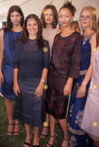 Jill Stuart Photo - Jill Stuart with Models at the 4th Anniversary Bridgehampton Polo Opening Day Mercedes Benz Polo 1998 K12873ww Photo by Walter Weissman-Globe Photos Inc