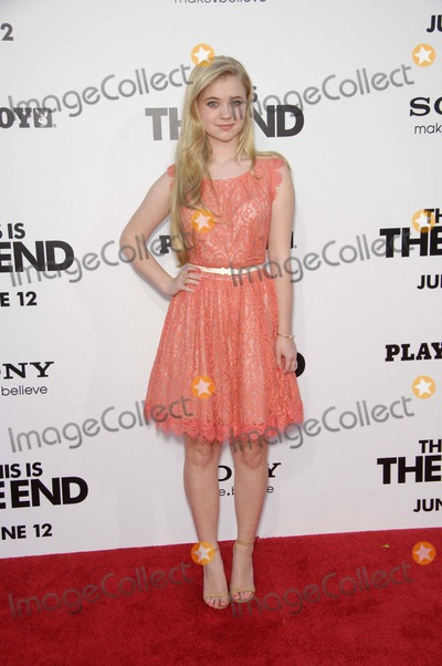 Sierra McCormick Photo - Sierra Mccormick During the Premiere of the New Movie From Columbia Pictures This Is the End Held at the Regency Village Theatre on June 3 2013 in Westwood Los Angeles Photo Michael Germana  Superstar Images - Globe Photos