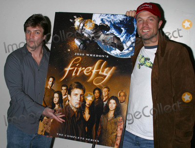 Adam Baldwin Photo - Dvd Release of the Sci-fi Adventure Series Fireflyat the Sci-ficonvention at the Shrine Auditorium in Los Angeles California 12212003 Nathan Fillion and Adam Baldwin Photo by Milan RybaGlobe Photos Inc