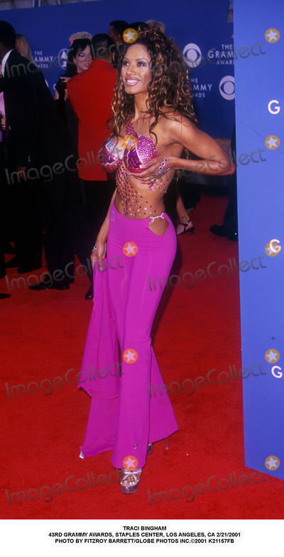 Traci Bingham Photo - Traci Bingham 43rd Grammy Awards Staples Center Los Angeles CA 2212001 Photo by Fitzroy BarrettGlobe Photos Inc2001