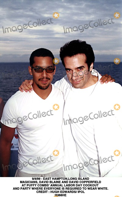 Hugh Edwards Photo - 499 - East Hamptonlong Island Magicians David Blaine and David Copperfield at Puffy Combs Annual Labor Day Cookout and Party Where Everyone Is Required to Wear White Credit  Hugh Edwards IpolGlobe Photos Inc