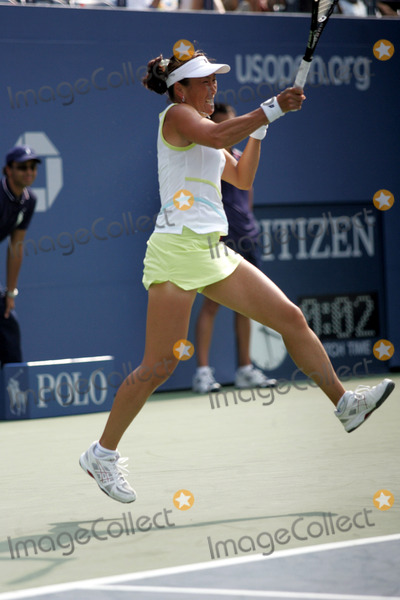 Ai Sugiyama Photo - Ai Sugiyama Plays During Day 6 of the Us Open at Arthur Ashe Stadium in New York on August 30 2008 Photo by Terry GatanisGlobe Photos Inc