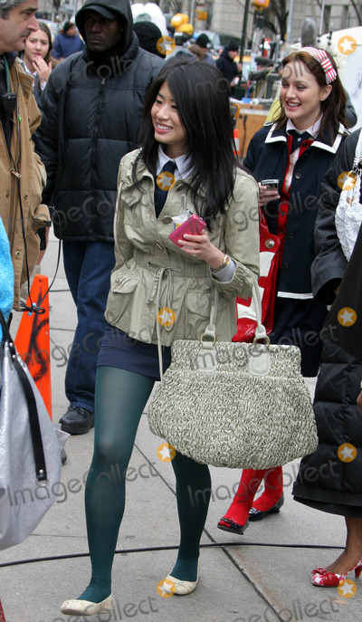 Nan Zhang Photo - On the Set of Gossip Girls Outside of Metropolitan Museum of Art 82st and 5ave Photos by John Barrett-Globe Photosinc Nan Zhang