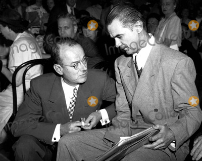 Howard Hughes Photo - Ta Slack Counsel For the Hughes Tool CO and Howard Hughes Prior to the Opening of the Afternoon Hearing of the Senate Subcommittee Investigating Government War Contracts with Hughes 861947 Supplied by Globe Photos Inc Howardhughesretro