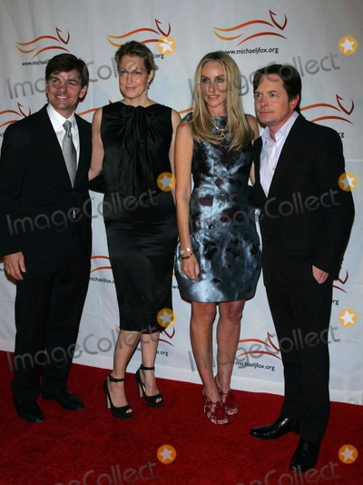Ali Wentworth Photo - GEORGE STEPHANOPOULOS ALI WENTWORTH TRACY POLLAN AND MICHAEL J FOX arrive for the Michael J Fox Foundation for Parkinsons Research A Funny Thing Happened on the Way to Cure Parkinsons Benefit at the Waldorf Astoria Hotel in New York on November 13 2010Photo by Sharon NeetlesGlobe Photos IncK66794SN