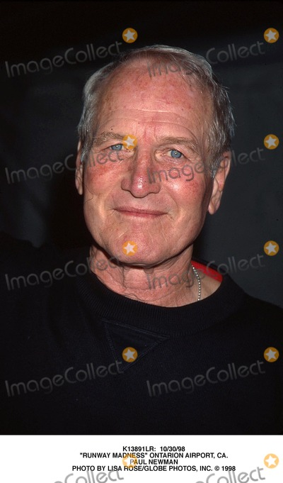 Paul Newman Photo -  103098 Runway Madness Ontarion Airport CA Paul Newman Photo by Lisa RoseGlobe Photos Inc